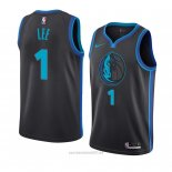 Camiseta Dallas Mavericks Courtney Lee #1 Ciudad 2018-19 Azul
