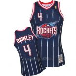 Camiseta Houston Rockets Charles Barkley #4 Retro Azul