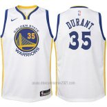 Camiseta Nino Golden State Warriors Kevin Durant #35 2017-18 Blanco