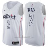 Camiseta Washington Wizards John Wall #2 Ciudad Blanco