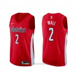 Camiseta Washington Wizards John Wall #2 Earned Rojo