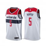 Camiseta Washington Wizards Shabazz Napier #5 Association Blanco