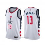 Camiseta Washington Wizards Thomas Bryant #13 Ciudad 2019-20 Blanco