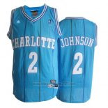 Camiseta Charlotte Hornets Larry Johnson #2 Retro Azul