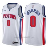 Camiseta Detroit Pistons Andre Drummond #0 Association 2017-18 Blanco