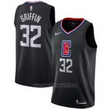 Camiseta Los Angeles Clippers Blake Griffin #32 Statement 2017-18 Negro
