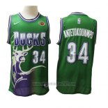 Camiseta Milwaukee Bucks Giannis Antetokounmpo #34 2019-20 Verde
