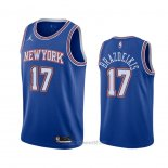 Camiseta New York Knicks Ignas Brazdeikis #17 Statement 2020-21 Azul