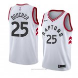 Camiseta Toronto Raptors Chris Boucher #25 Association 2018 Blanco