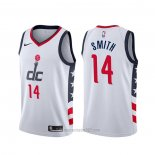 Camiseta Washington Wizards Ish Smith #14 Ciudad Blanco