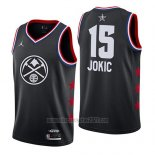 Camiseta All Star 2019 Denver Nuggets Nikola Jokic #15 Negro