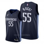 Camiseta Dallas Mavericks Delon Wright #55 Statement Azul