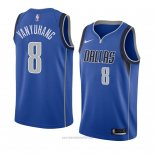 Camiseta Dallas Mavericks Ding Yanyuhang #8 Icon 2018 Azul