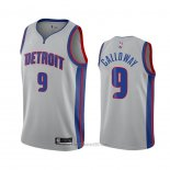 Camiseta Detroit Pistons Langston Galloway #9 Statement 2020-21 Gris