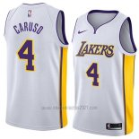 Camiseta Los Angeles Lakers Alex Caruso #4 Association 2018 Blanco