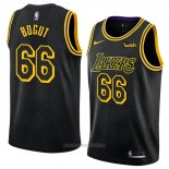 Camiseta Los Angeles Lakers Andrew Bogut #66 Ciudad 2018 Negro