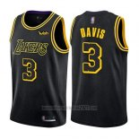 Camiseta Los Angeles Lakers Anthony Davis #3 Ciudad 2019 Negro