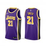 Camiseta Los Angeles Lakers J.r. Smith #21 Statement 2020 Violeta