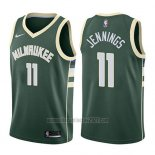 Camiseta Milwaukee Bucks Brandon Jennings #11 Icon 2017-18 Verde