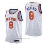 Camiseta New York Knicks Mario Hezonja #8 Association Blanco