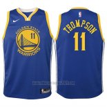 Camiseta Nino Golden State Warriors Klay Thompson #11 2017-18 Azul