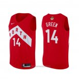 Camiseta Toronto Raptors Danny Green #14 Earned Rojo