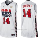 Camiseta USA 1992 Charles Barkley #14 Blanco