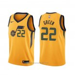 Camiseta Utah Jazz Jeff Green #22 Statement Amarillo
