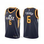 Camiseta Utah Jazz Rayjon Tucker #6 Icon Edition Azul