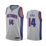 Camiseta Detroit Pistons Louis King #14 Statement 2020-21 Gris
