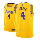 Camiseta Los Angeles Lakers Alex Caruso #4 Icon 2018-19 Oro