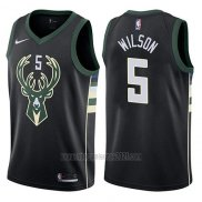 Camiseta Milwaukee Bucks D.j. Wilson #5 Statement 2017-18 Negro