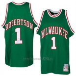 Camiseta Milwaukee Bucks Oscar Robertson #1 Retro Verde