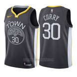 Camiseta Nino Golden State Warriors Stephen Curry #30 Statement 2017-18 Gris