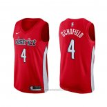 Camiseta Washington Wizards Admiral Schofield #4 Earned 2019-20 Rojo