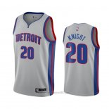 Camiseta Detroit Pistons Brandon Knight #20 Statement 2020-21 Gris