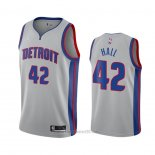 Camiseta Detroit Pistons Donta Hall #42 Statement 2020-21 Gris