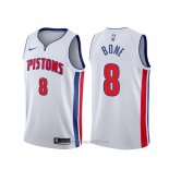 Camiseta Detroit Pistons Jordan Bone #8 Association Blanco