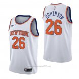 Camiseta New York Knicks Mitchell Robinson #26 Association Blanco