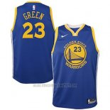 Camiseta Nino Golden State Warriors Draymond Green #23 2018 Azul