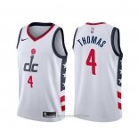 Camiseta Washington Wizards Isaiah Thomas #4 Ciudad Blanco