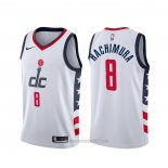 Camiseta Washington Wizards Rui Hachimura #8 Ciudad Blanco