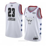 Camiseta All Star 2019 Chicago Bulls Michael Jordan #23 Blanco