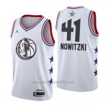 Camiseta All Star 2019 Dallas Mavericks Dirk Nowitzki #41 Blanco