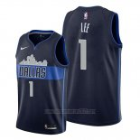 Camiseta Dallas Mavericks Courtney Lee #1 Statement Azul