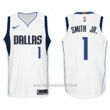 Camiseta Dallas Mavericks Dennis Smith Jr. #1 2017-18 Blanco