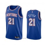Camiseta New York Knicks Damyean Dotson #21 Statement 2020-21 Azul