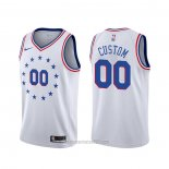 Camiseta Philadelphia 76ers Personalizada Blanco Earned