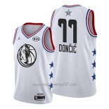 Camiseta All Star 2019 Dallas Mavericks Luka Doncic #77 Blanco
