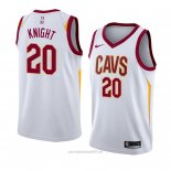 Camiseta Cleveland Cavaliers Brandon Knight #20 Association 2018 Blanco